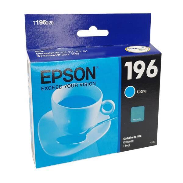 CARTUCHO EPSON T196220BR Nº 196 CYAN