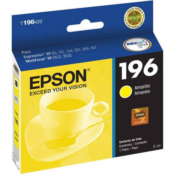 CARTUCHO EPSON T196420BR Nº 196 YELLOW