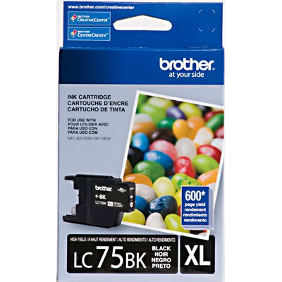 CARTUCHO BROTHER LC75BK PRETO