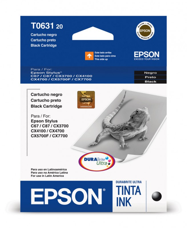CARTUCHO EPSON T063120 BK 8ML
