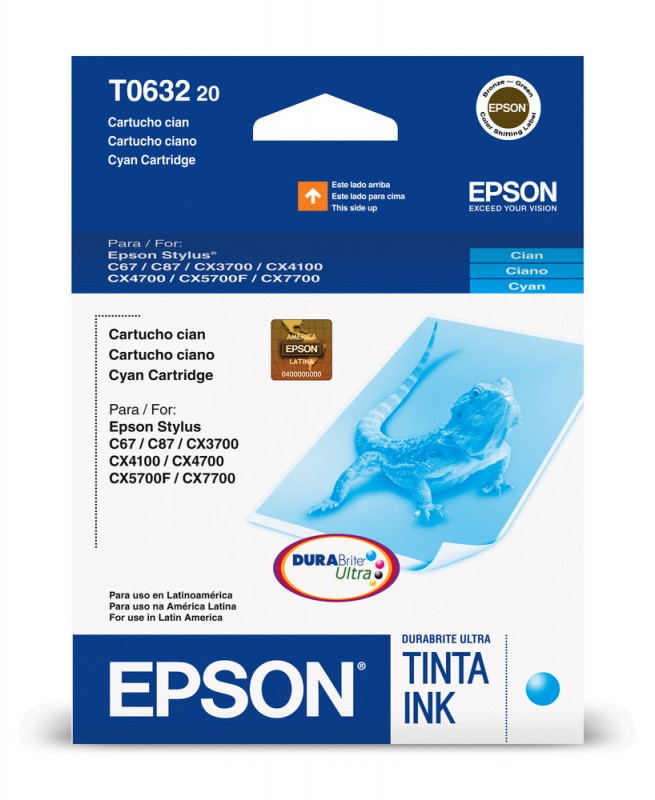 CARTUCHO EPSON T063220 CYAN 8ML
