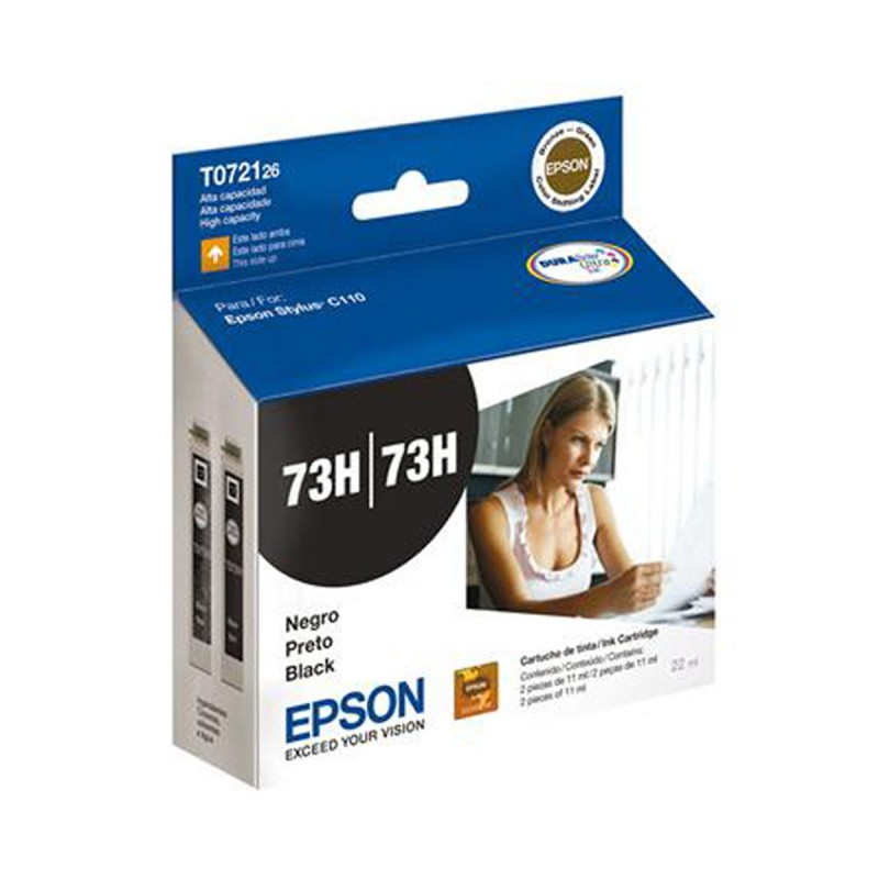 CARTUCHO EPSON T072126 (2X TO73120H) PRETO 2X11ML