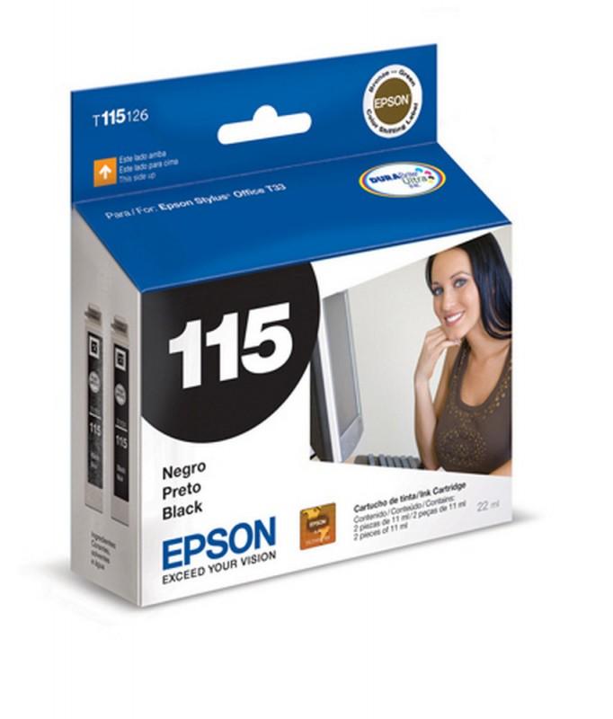 CARTUCHO EPSON T115126 Nº 115 PRETO 2X11ML