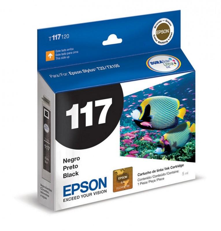 CARTUCHO EPSON T117120 Nº 117 PRETO 5ML