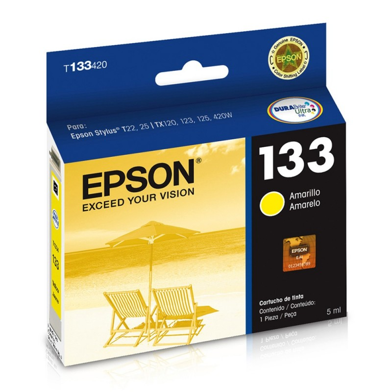 CARTUCHO EPSON T133420 Nº 133 YELLOW 5ML