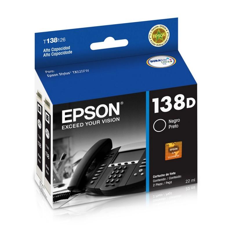 CARTUCHO EPSON T138126AL Nº 138D BK 22ML