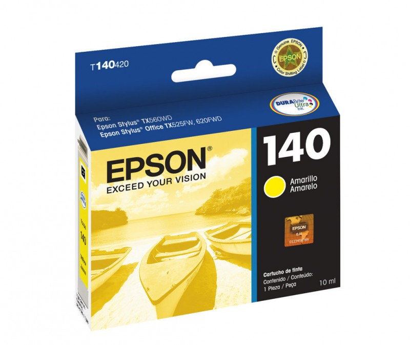 CARTUCHO EPSON T140420AL Nº 140 YELLOW 10ML