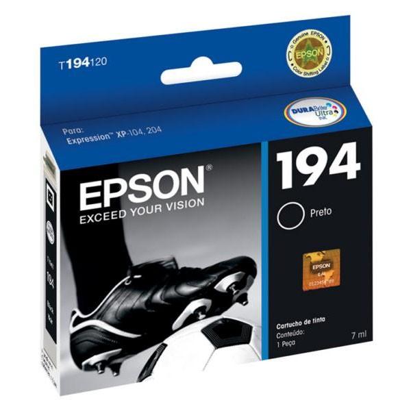CARTUCHO EPSON T194120BR Nº 194 BK