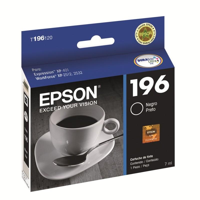 CARTUCHO EPSON T196120BR Nº 196 PRETO