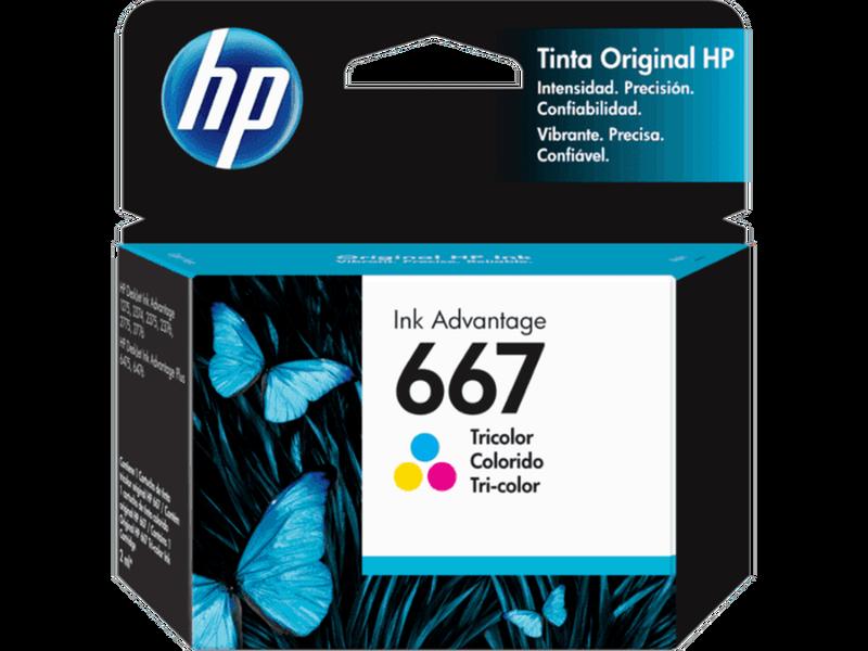 Cartucho HP 667 colorido 3YM78AL HP CX 1 UN