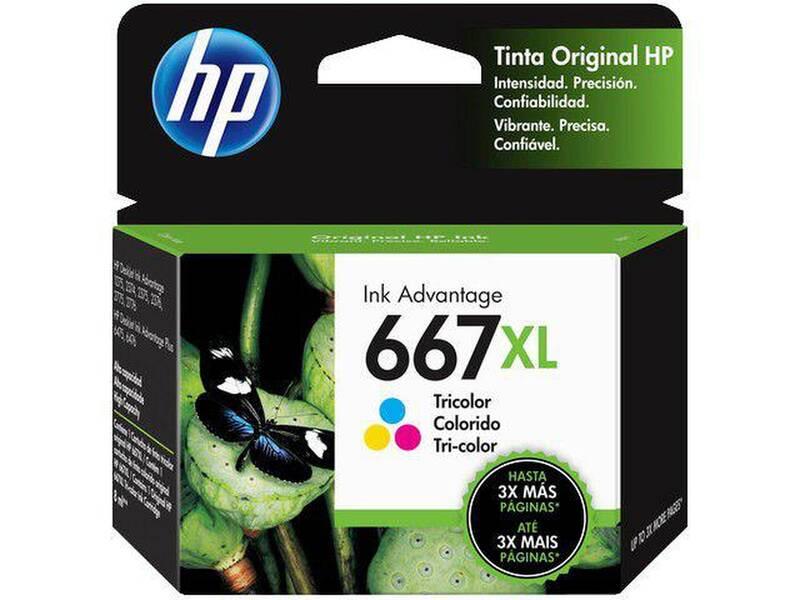Cartucho HP 667XL colorido 3YM80AL HP CX 1 UN