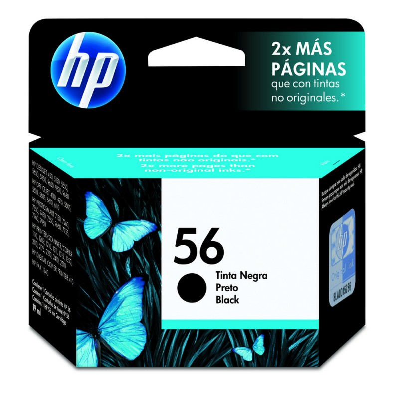 CARTUCHO HP C6656AL No 56 PRETO 19ML