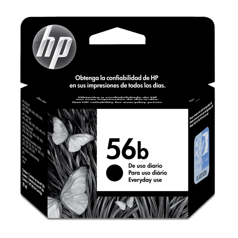 CARTUCHO HP C6656WB EVERYDAY Nº 56B PRETO 19ML