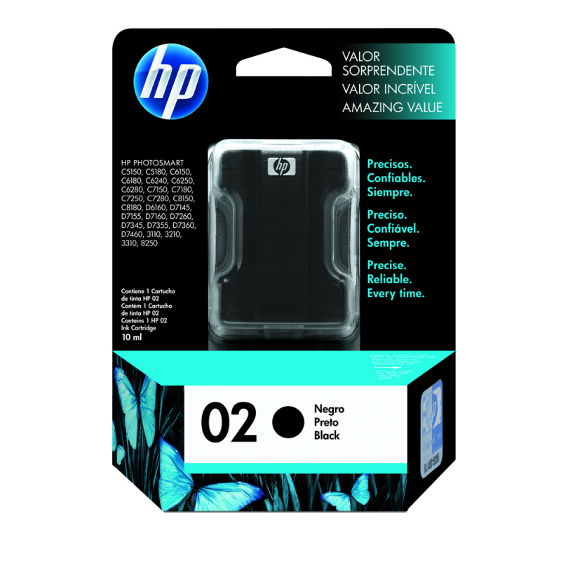 CARTUCHO HP C8721WL No 02 PRETO 10ML
