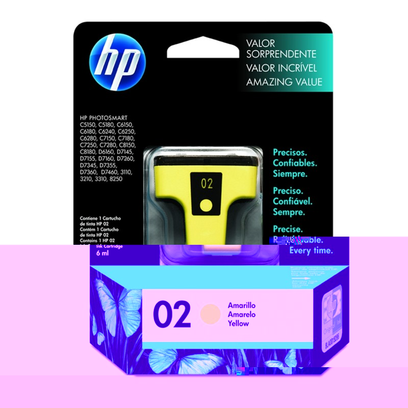 CARTUCHO HP C8773WL No 02 YELLOW 6ML