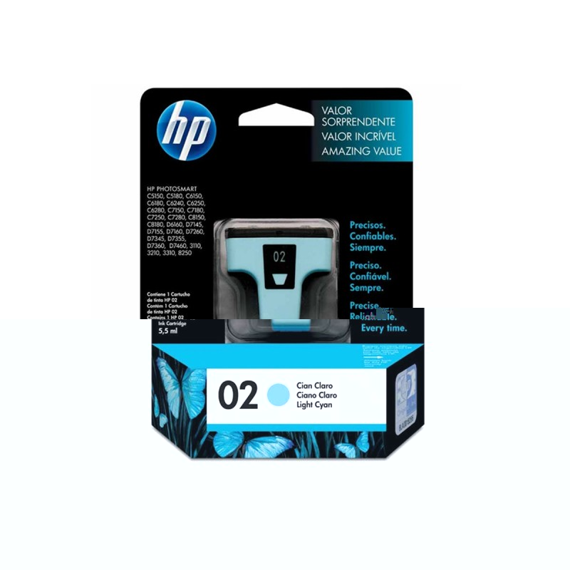 CARTUCHO HP C8774WL Nº 02 CYAN LIGHT 3,5ML