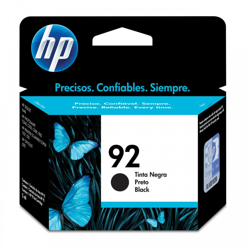 CARTUCHO HP C9362WL No 92 PRETO 5,5ML