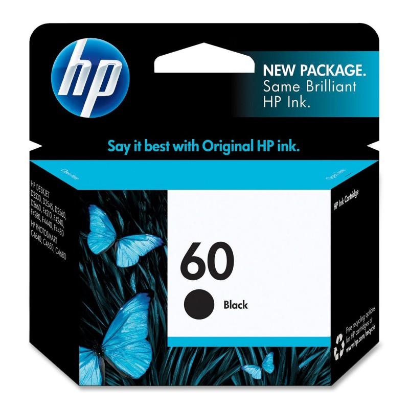 CARTUCHO HP CC640WB No 60 PRETO 4,5ML