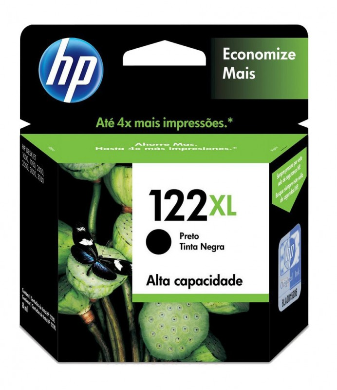 CARTUCHO HP CH563HB No 122XL PRETO 8ML