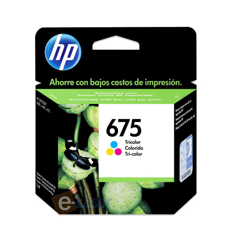 CARTUCHO HP CN691AL Nº 675 TC 9ML