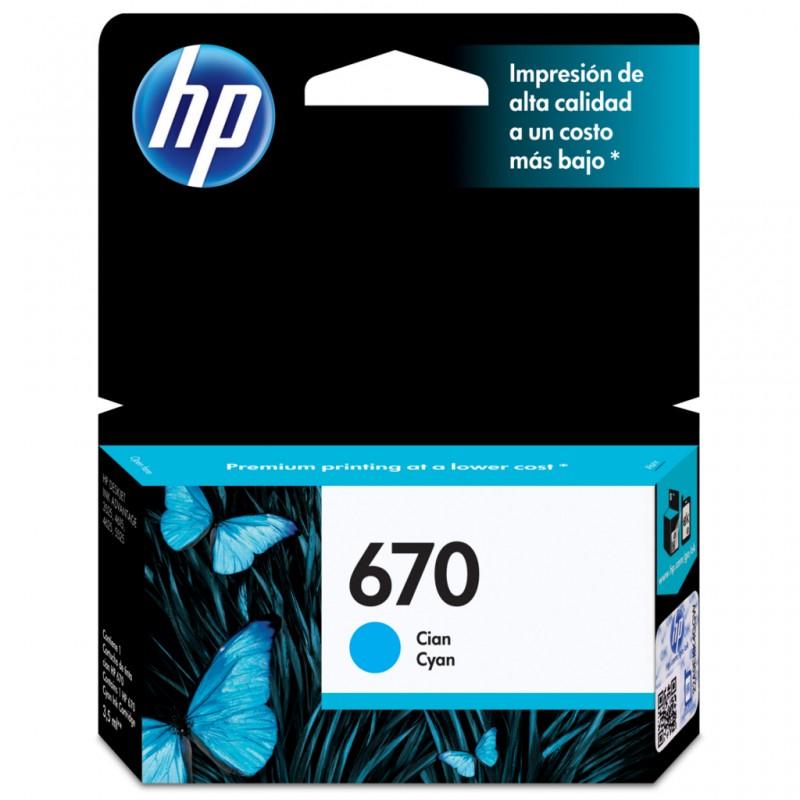 CARTUCHO HP CZ114AB Nº 670 CYAN 3,5ML