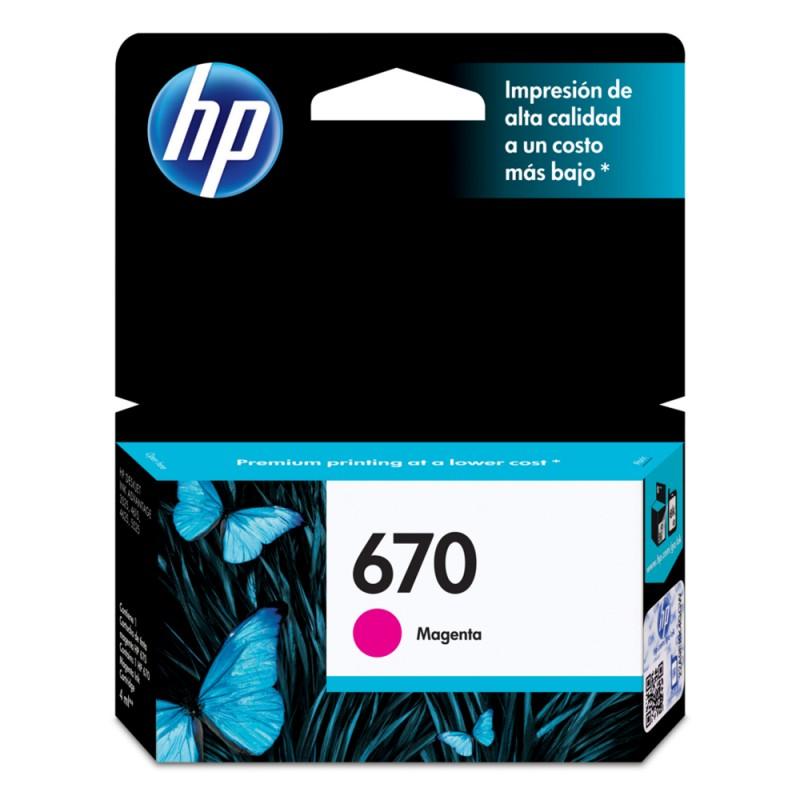 CARTUCHO HP CZ115AB Nº 670 MAGENTA 4ML