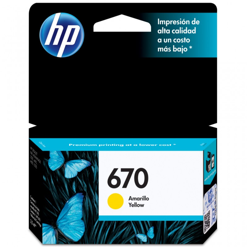 CARTUCHO HP CZ116AB Nº 670 YELLOW 3,5ML