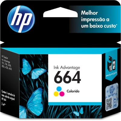 CARTUCHO HP F6V28AB Nº 664 COLOR