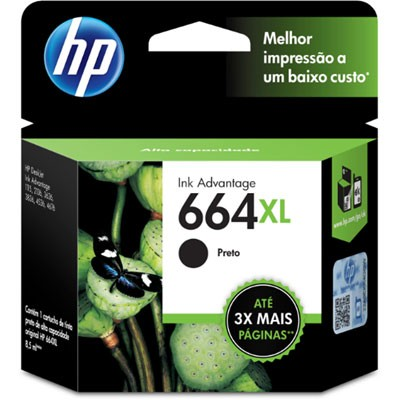 CARTUCHO HP F6V31AB Nº 664XL PRETO 8,5ML