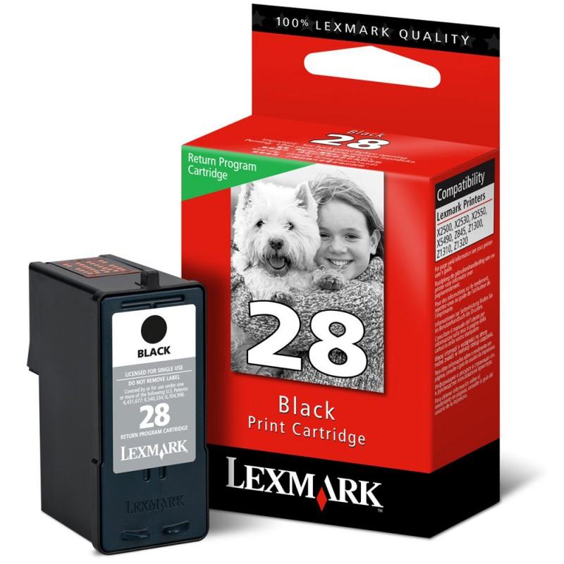 CARTUCHO LEXMARK 18C1428 Nº 28 PRETO 8ML
