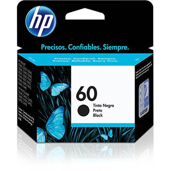 CARTUCHO HP CC640WB No 60 PRETO 4,5ML