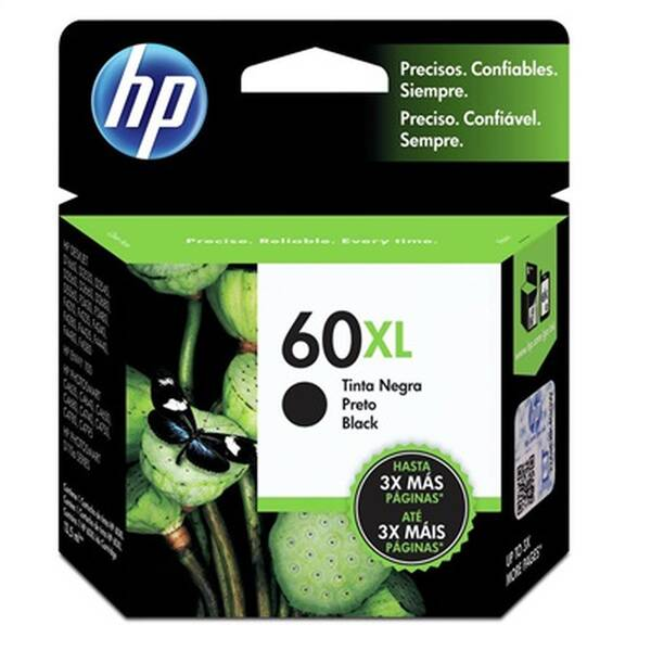 CARTUCHO HP CC641WB No 60XL PRETO 13,5ML