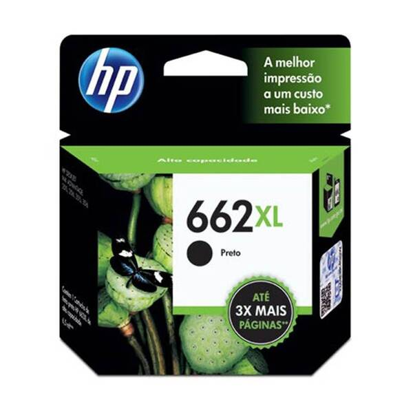 CARTUCHO HP CZ105AB Nº 662XL PRETO 6,5ML