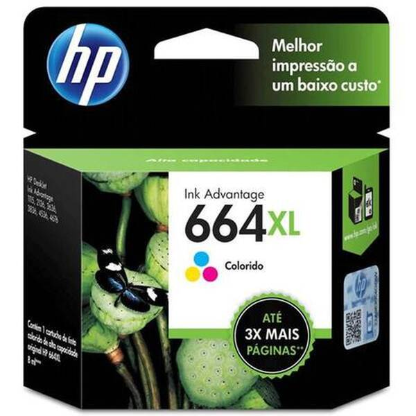 CARTUCHO HP F6V30AB Nº 664XL COLOR  8ML