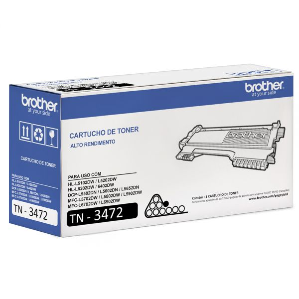 TONER BROTHER TN-3472 Preto