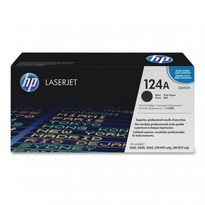 TONER HP Q6000A Nº 124A PRETO